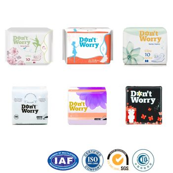 Hot Sale OEM Brand High Absorbent Cotton Sanitary Napkins Pads