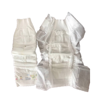 Leak guard,big elastic waistand, breathable cloth-like backsheet, double hot air-through topsheet,S cute side tape,white ADL,full absorbent paper core
